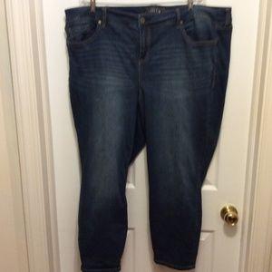 Torrid Jeans 26W Straight Leg Blue Dark Wash